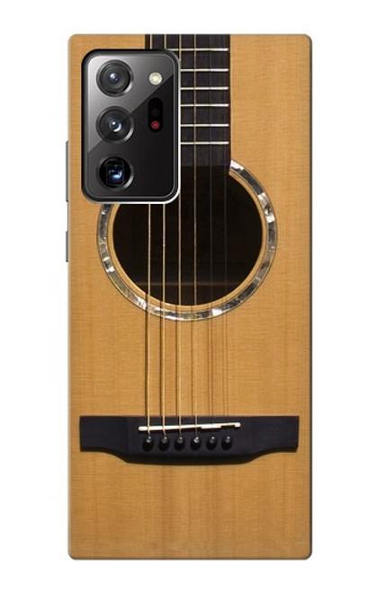 W0057 Acoustic Guitar Funda Carcasa Case y Caso Del Tirón Funda para Samsung Galaxy Note 20 Ultra, Ultra 5G