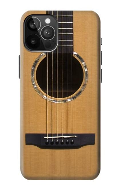 W0057 Acoustic Guitar Funda Carcasa Case y Caso Del Tirón Funda para iPhone 12 Pro Max