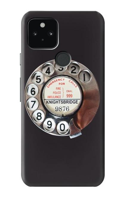 W0059 Retro Rotary Phone Dial On Funda Carcasa Case y Caso Del Tirón Funda para Google Pixel 5