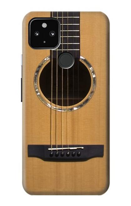 W0057 Acoustic Guitar Funda Carcasa Case y Caso Del Tirón Funda para Google Pixel 4a 5G