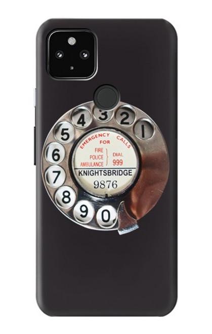W0059 Retro Rotary Phone Dial On Funda Carcasa Case y Caso Del Tirón Funda para Google Pixel 4a 5G