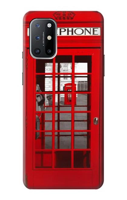 W0058 British Red Telephone Box Funda Carcasa Case y Caso Del Tirón Funda para OnePlus 8T