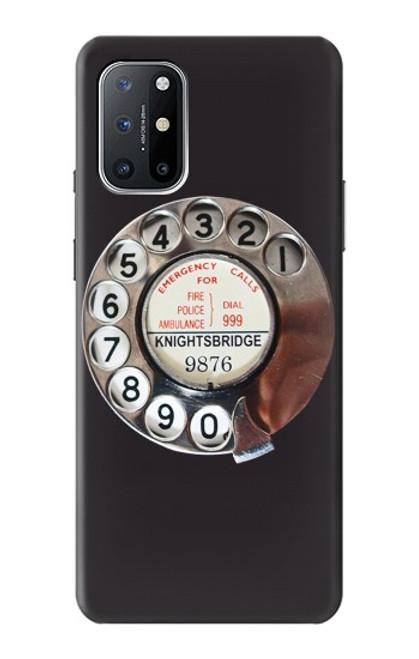 W0059 Retro Rotary Phone Dial On Funda Carcasa Case y Caso Del Tirón Funda para OnePlus 8T