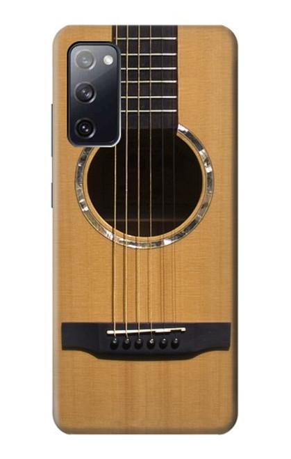 W0057 Acoustic Guitar Funda Carcasa Case y Caso Del Tirón Funda para Samsung Galaxy S20 FE