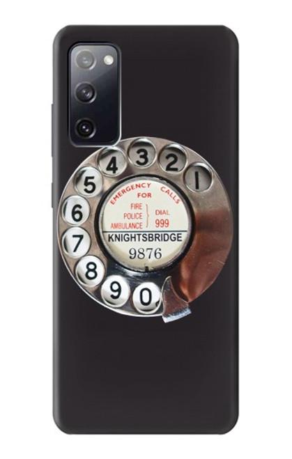 W0059 Retro Rotary Phone Dial On Funda Carcasa Case y Caso Del Tirón Funda para Samsung Galaxy S20 FE