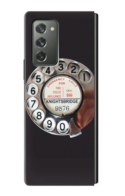 W0059 Retro Rotary Phone Dial On Funda Carcasa Case y Caso Del Tirón Funda para Samsung Galaxy Z Fold2 5G