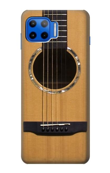 W0057 Acoustic Guitar Funda Carcasa Case y Caso Del Tirón Funda para Motorola Moto G 5G Plus