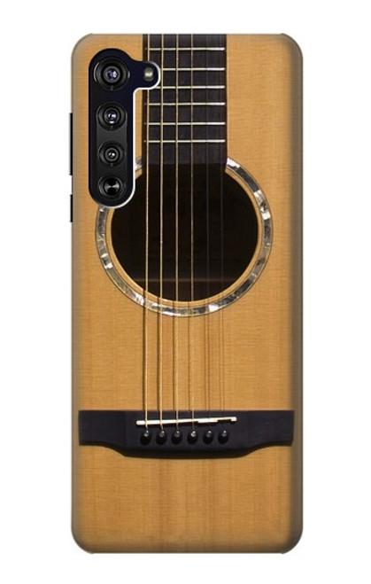 W0057 Acoustic Guitar Funda Carcasa Case y Caso Del Tirón Funda para Motorola Edge