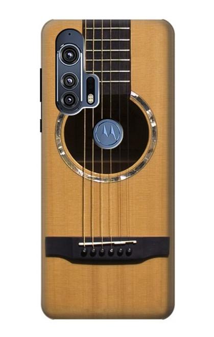 W0057 Acoustic Guitar Funda Carcasa Case y Caso Del Tirón Funda para Motorola Edge+