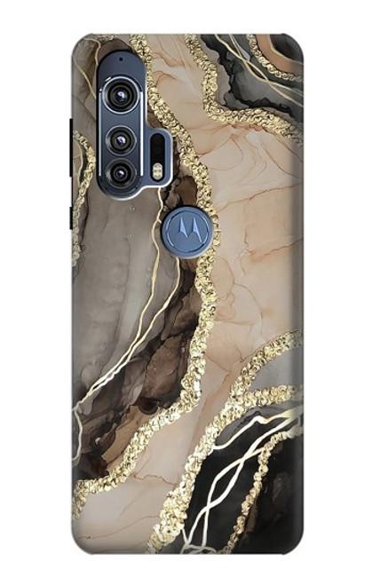 W3700 Marble Gold Graphic Printed Funda Carcasa Case y Caso Del Tirón Funda para Motorola Edge+