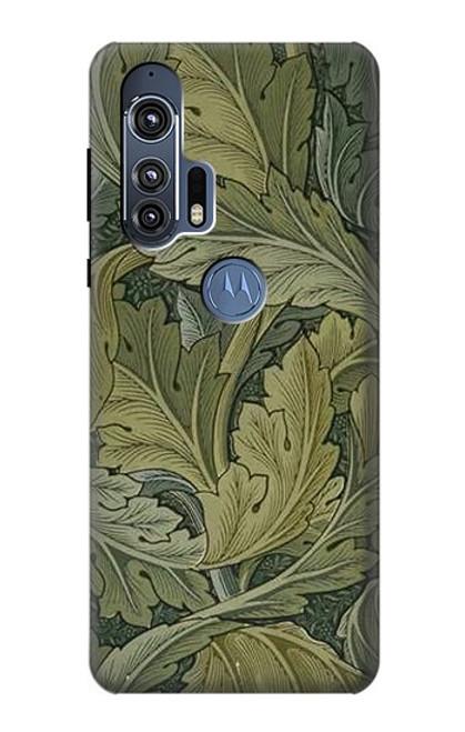 W3790 William Morris Acanthus Leaves Funda Carcasa Case y Caso Del Tirón Funda para Motorola Edge+