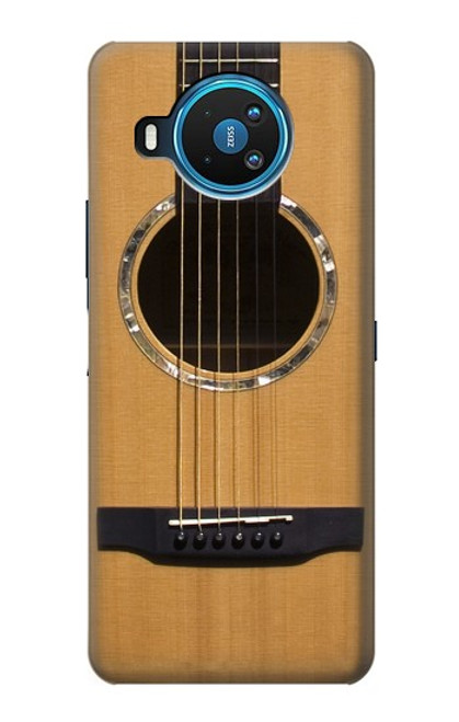 W0057 Acoustic Guitar Funda Carcasa Case y Caso Del Tirón Funda para Nokia 8.3 5G