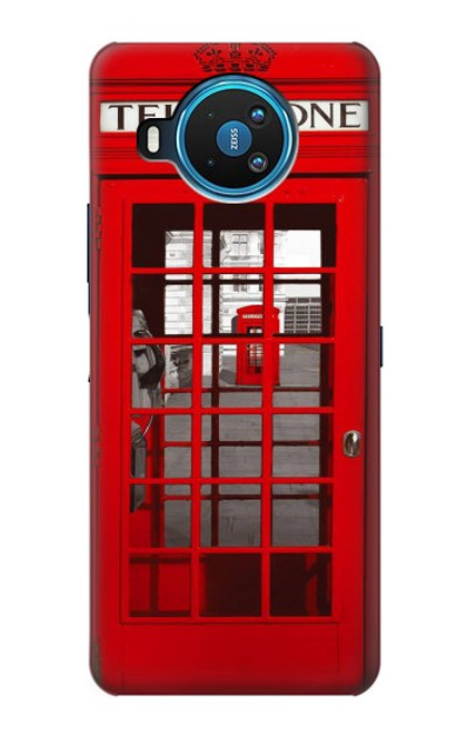 W0058 British Red Telephone Box Funda Carcasa Case y Caso Del Tirón Funda para Nokia 8.3 5G
