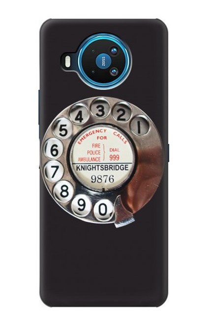 W0059 Retro Rotary Phone Dial On Funda Carcasa Case y Caso Del Tirón Funda para Nokia 8.3 5G