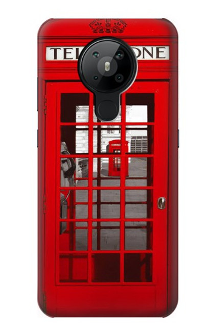 W0058 British Red Telephone Box Funda Carcasa Case y Caso Del Tirón Funda para Nokia 5.3