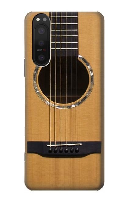 W0057 Acoustic Guitar Funda Carcasa Case y Caso Del Tirón Funda para Sony Xperia 5 II