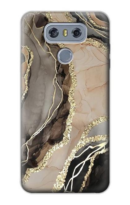 W3700 Marble Gold Graphic Printed Funda Carcasa Case y Caso Del Tirón Funda para LG G6