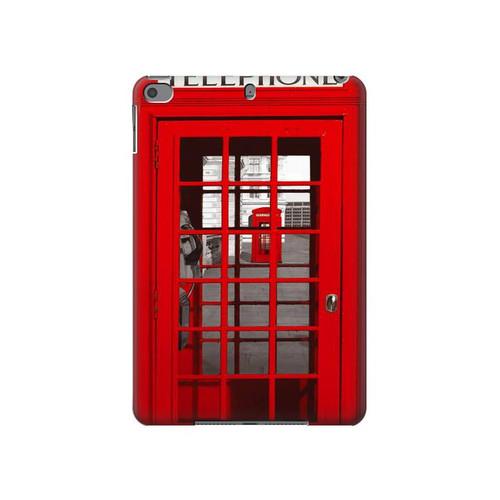 W0058 British Red Telephone Box Tablet Funda Carcasa Case para iPad mini 4, iPad mini 5, iPad mini 5 (2019)