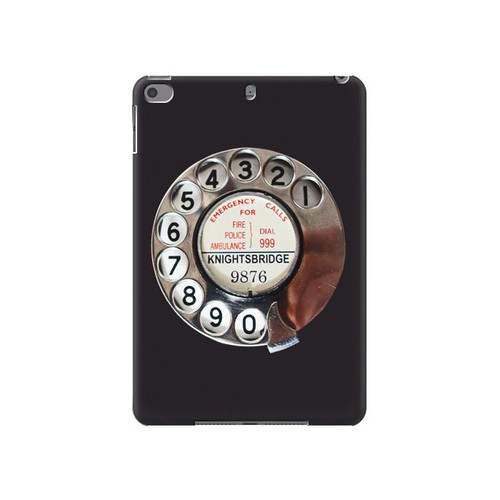 W0059 Retro Rotary Phone Dial On Tablet Funda Carcasa Case para iPad mini 4, iPad mini 5, iPad mini 5 (2019)