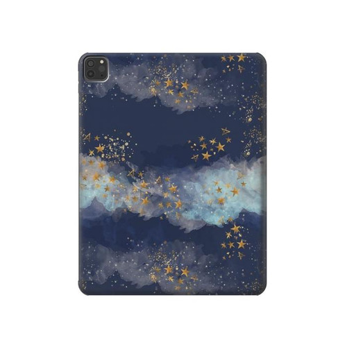 W3364 Gold Star Sky Tablet Funda Carcasa Case para iPad Pro 11 (2018,2020), iPad Air 4 (2020), iPad Air (2020)