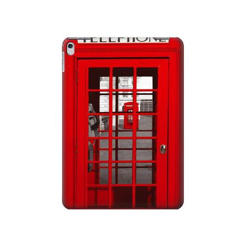 W0058 British Red Telephone Box Tablet Funda Carcasa Case para iPad Air 2, iPad 9.7 (2017,2018), iPad 6, iPad 5