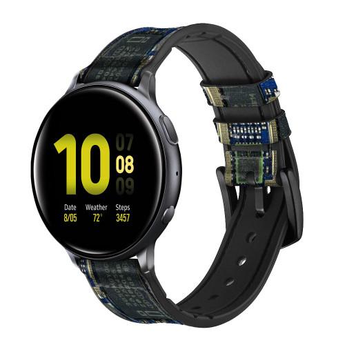 CA0004 Curcuid Board Correa de reloj inteligente de silicona y cuero para Samsung Galaxy Watch, Gear, Active