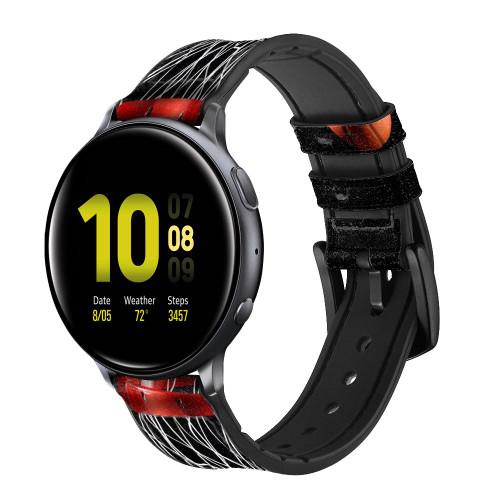 CA0007 Basketball Correa de reloj inteligente de silicona y cuero para Samsung Galaxy Watch, Gear, Active