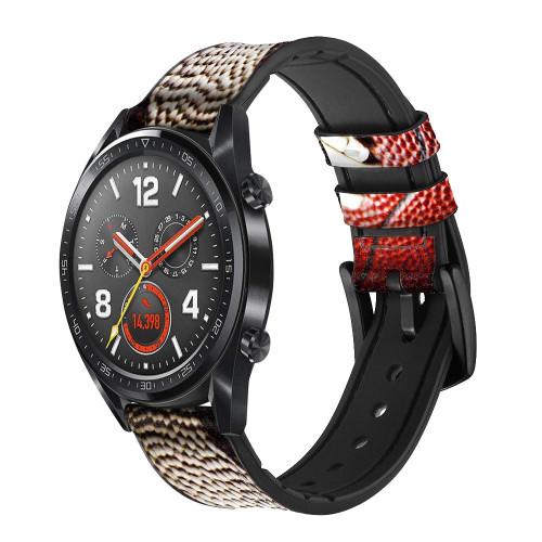 CA0003 American Football Correa de reloj inteligente de silicona y cuero para Wristwatch Smartwatch