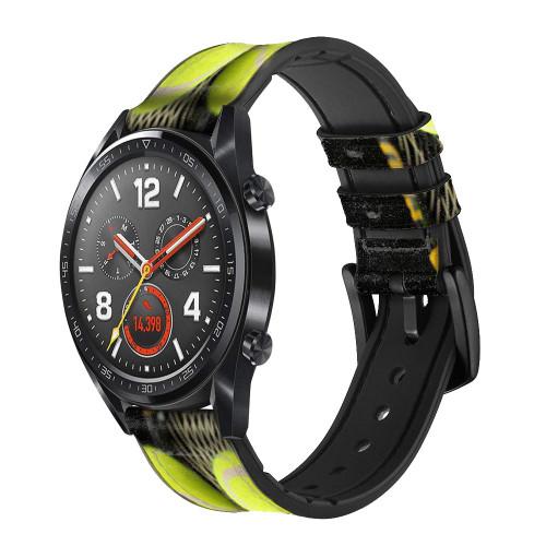 CA0008 Tennis Correa de reloj inteligente de silicona y cuero para Wristwatch Smartwatch
