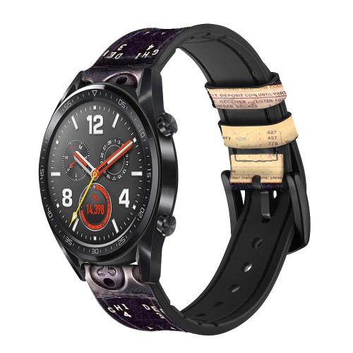 CA0011 Payphone Vintage Correa de reloj inteligente de silicona y cuero para Wristwatch Smartwatch