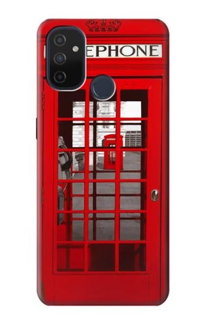 W0058 British Red Telephone Box Funda Carcasa Case y Caso Del Tirón Funda para OnePlus Nord N100