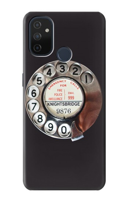 W0059 Retro Rotary Phone Dial On Funda Carcasa Case y Caso Del Tirón Funda para OnePlus Nord N100