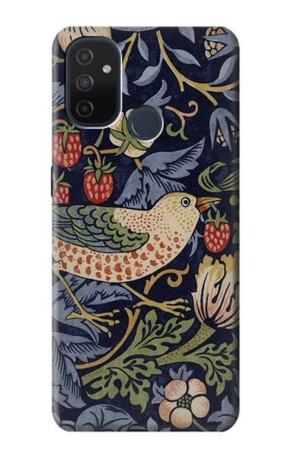 W3791 William Morris Strawberry Thief Fabric Funda Carcasa Case y Caso Del Tirón Funda para OnePlus Nord N100