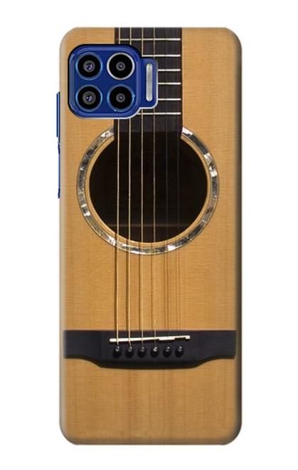 W0057 Acoustic Guitar Funda Carcasa Case y Caso Del Tirón Funda para Motorola One 5G