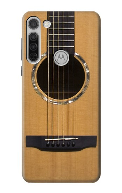 W0057 Acoustic Guitar Funda Carcasa Case y Caso Del Tirón Funda para Motorola Moto G8