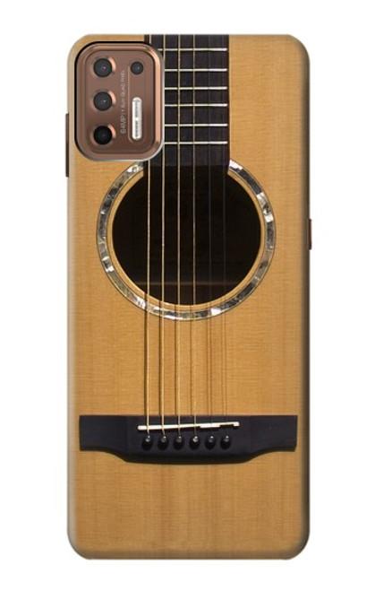 W0057 Acoustic Guitar Funda Carcasa Case y Caso Del Tirón Funda para Motorola Moto G9 Plus