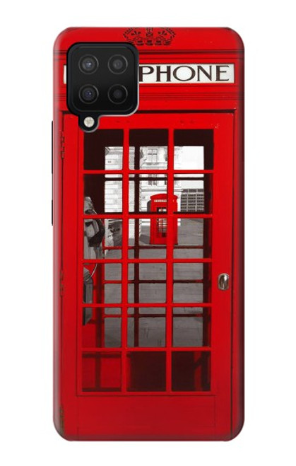 W0058 British Red Telephone Box Funda Carcasa Case y Caso Del Tirón Funda para Samsung Galaxy A42 5G