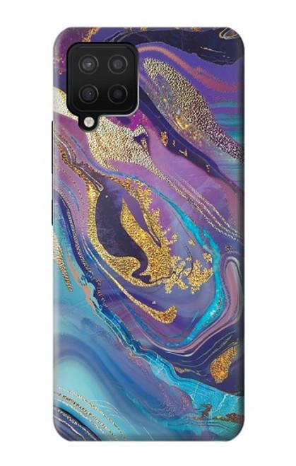 W3676 Colorful Abstract Marble Stone Funda Carcasa Case y Caso Del Tirón Funda para Samsung Galaxy A42 5G