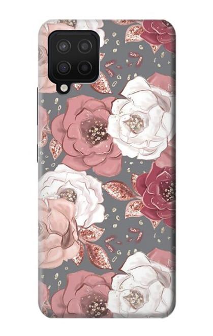 W3716 Rose Floral Pattern Funda Carcasa Case y Caso Del Tirón Funda para Samsung Galaxy A42 5G