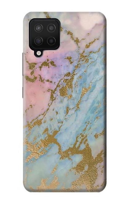 W3717 Rose Gold Blue Pastel Marble Graphic Printed Funda Carcasa Case y Caso Del Tirón Funda para Samsung Galaxy A42 5G