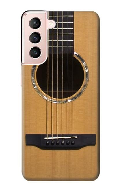 W0057 Acoustic Guitar Funda Carcasa Case y Caso Del Tirón Funda para Samsung Galaxy S21 5G