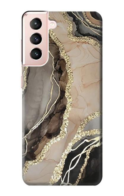W3700 Marble Gold Graphic Printed Funda Carcasa Case y Caso Del Tirón Funda para Samsung Galaxy S21 5G