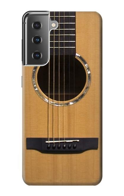 W0057 Acoustic Guitar Funda Carcasa Case y Caso Del Tirón Funda para Samsung Galaxy S21 Plus 5G, Galaxy S21+ 5G