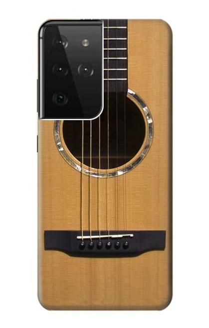 W0057 Acoustic Guitar Funda Carcasa Case y Caso Del Tirón Funda para Samsung Galaxy S21 Ultra 5G