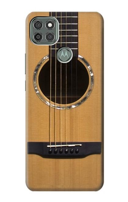 W0057 Acoustic Guitar Funda Carcasa Case y Caso Del Tirón Funda para Motorola Moto G9 Power