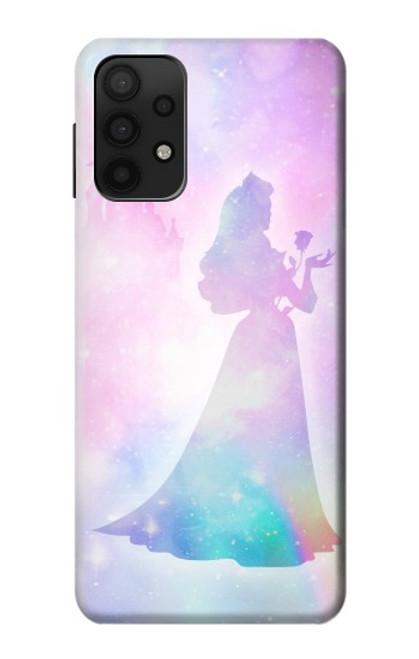 W2992 Princess Pastel Silhouette Funda Carcasa Case y Caso Del Tirón Funda para Samsung Galaxy A32 5G