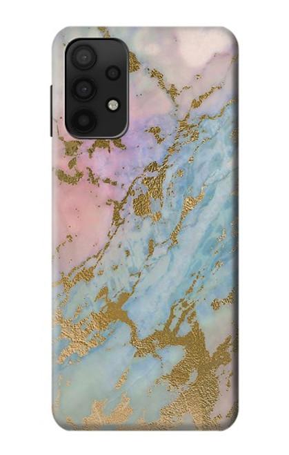 W3717 Rose Gold Blue Pastel Marble Graphic Printed Funda Carcasa Case y Caso Del Tirón Funda para Samsung Galaxy A32 5G