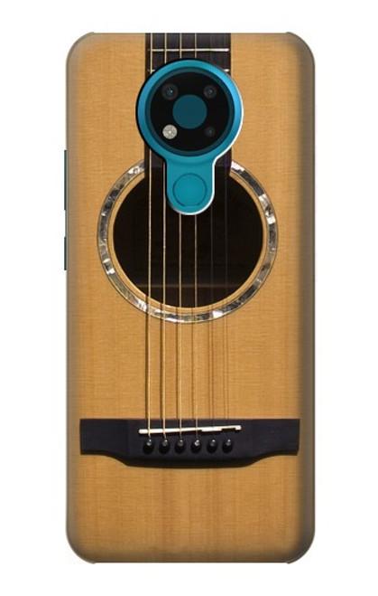 W0057 Acoustic Guitar Funda Carcasa Case y Caso Del Tirón Funda para Nokia 3.4