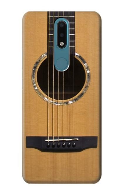 W0057 Acoustic Guitar Funda Carcasa Case y Caso Del Tirón Funda para Nokia 2.4