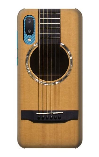W0057 Acoustic Guitar Funda Carcasa Case y Caso Del Tirón Funda para Samsung Galaxy A02, Galaxy M02